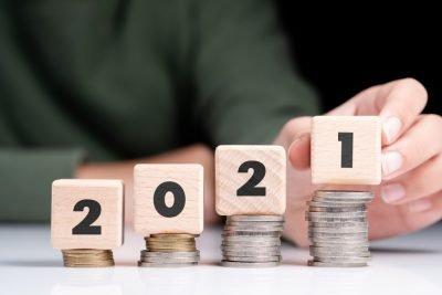 2021 estate planning resolutions   2021 blocks on coin stacks