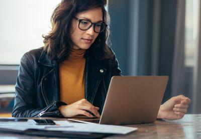 woman on laptop digital estate planning