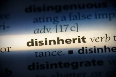 disinherit dictionary page